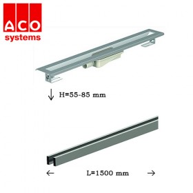 ACO SHOWER DRAIN S KANAL SA STRIPES REŠETKOM 1500 mm X 55-85mm 1