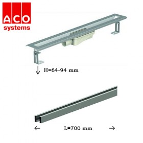 ACO SHOWER DRAIN S KANAL SA STRIPES REŠETKOM  700 mm X 64-94mm 1